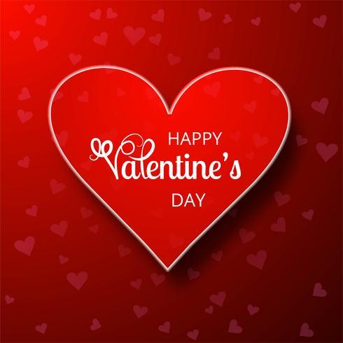Illustrazione felice di progettazione di carta di amore di San Valentino