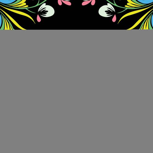 Ilustração decorativa floral design colorido