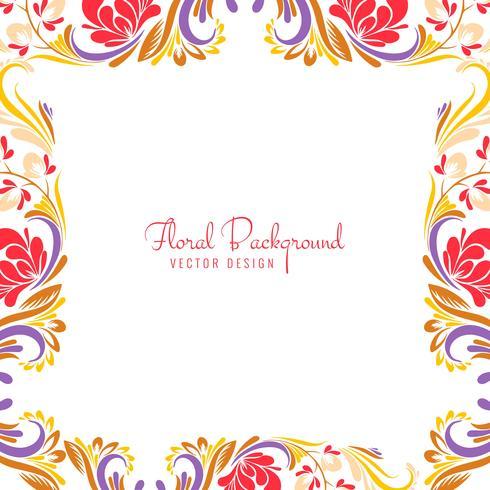 Illustrazione di disegno floreale colorato decorativo