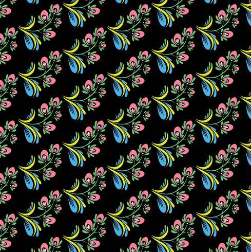 Vacker dekorativa färgstarka blommönster bakgrund