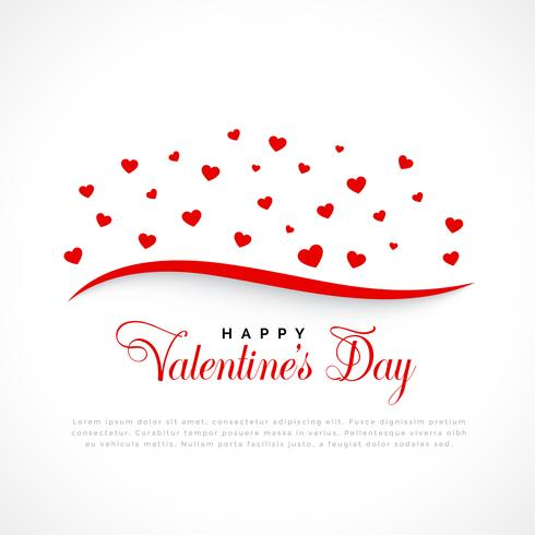 schwimmende Herzen Hintergrund zum Valentinstag