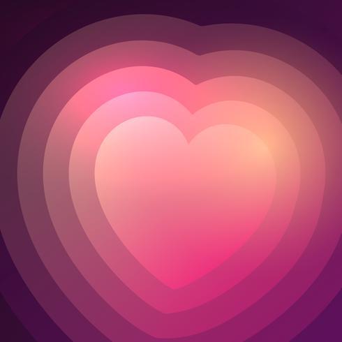 Fondo abstracto del corazón del gradiente