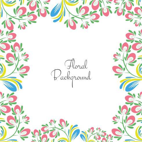 Vector floral colorido decorativo de la ilustración del fondo