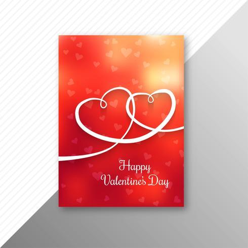 Valentinsdag färgglada hjärtans kort mall design