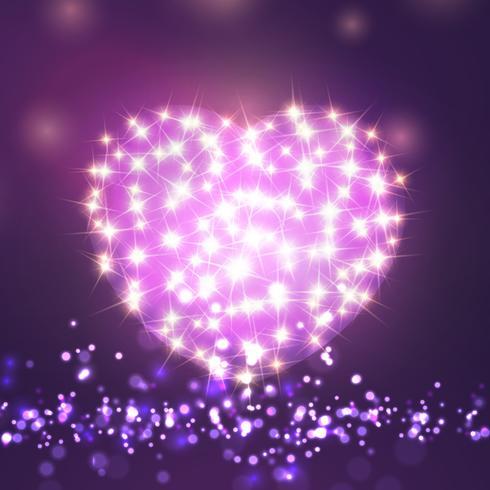Valentine's day sparkle heart