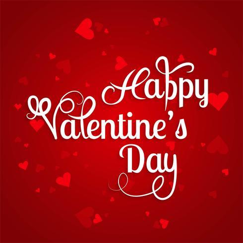 Vector de fondo de tarjeta de corazones de día de San Valentín