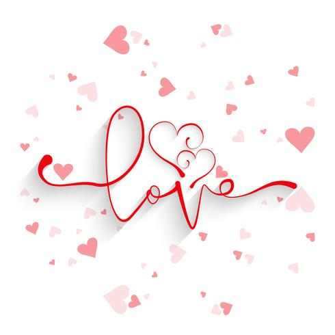 Beautiful Card Love Background With Hearts Design Download