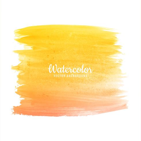 Beautiful hand draw colorful watercolor strokes set vector