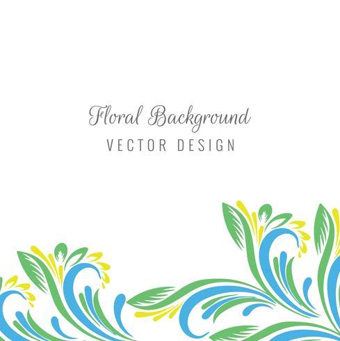 Floral colorido isolado no fundo branco