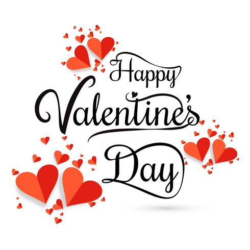 Valentines day hearts card background vector