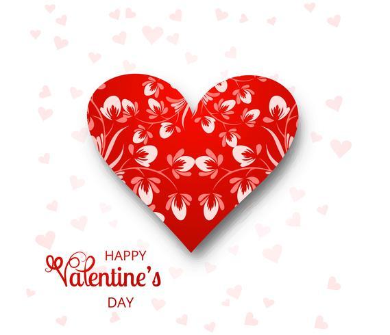 Ilustración hermosa del fondo de la tarjeta del día de tarjeta del día de San Valentín vector