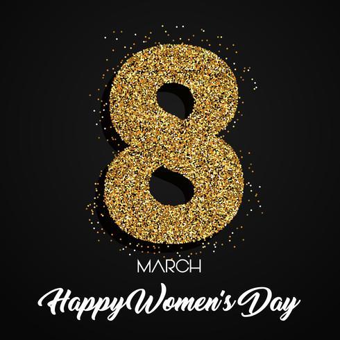Glitter Womens Day Hintergrund vektor