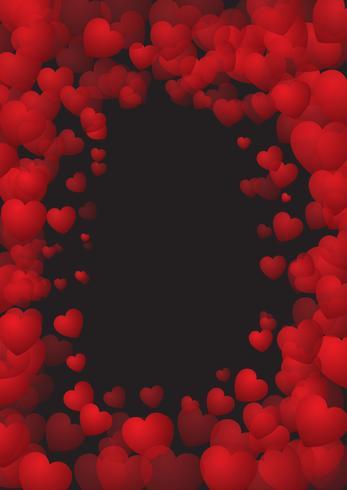 Fundo de dia dos namorados com moldura de coração
