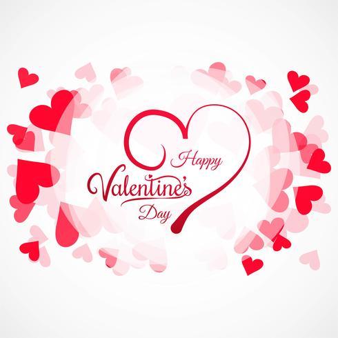 Illustrazione variopinta della priorità bassa della scheda dei cuori di giorno dei biglietti di S. Valentino