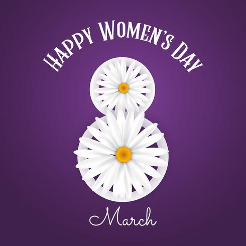 International Women's day background with daisies