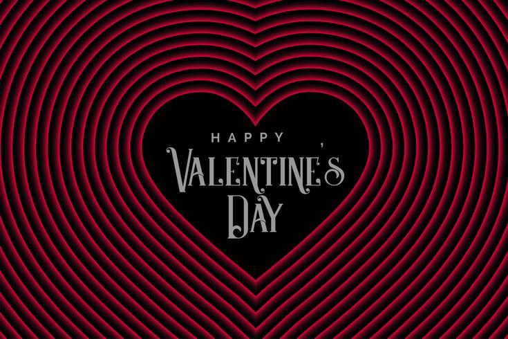 Corazones de línea de estilo retro para el día de San Valentín