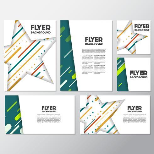frische Mode Hintergrund Flyer Stil Hintergrund Design-Vorlage vektor