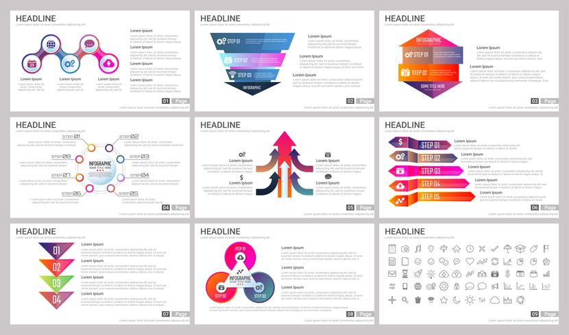 Modern Elements of infographics for presentations templates