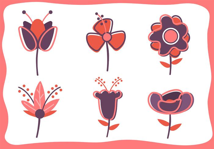 Set di clipart di fiori