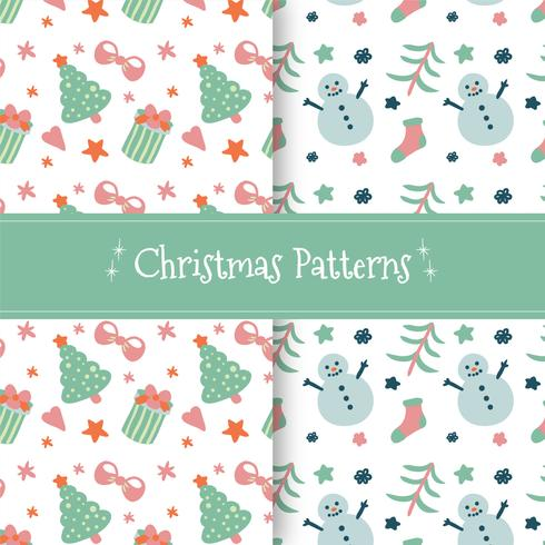 Cute Christmas Pattern Collection  vector