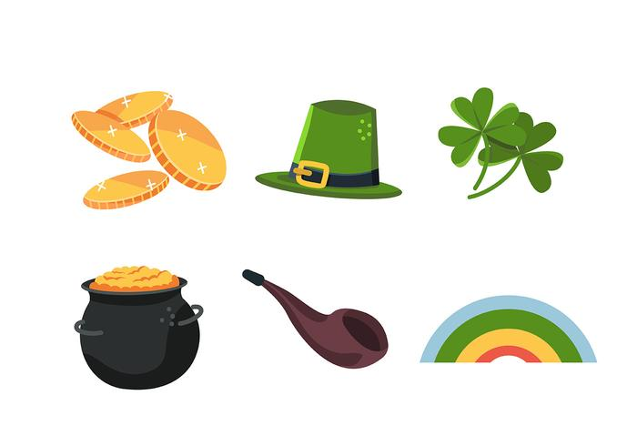 St Patrick's Day Clipart Set vecteur