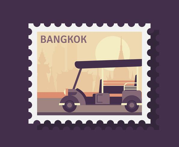 Bangkok Postage Stamp vector