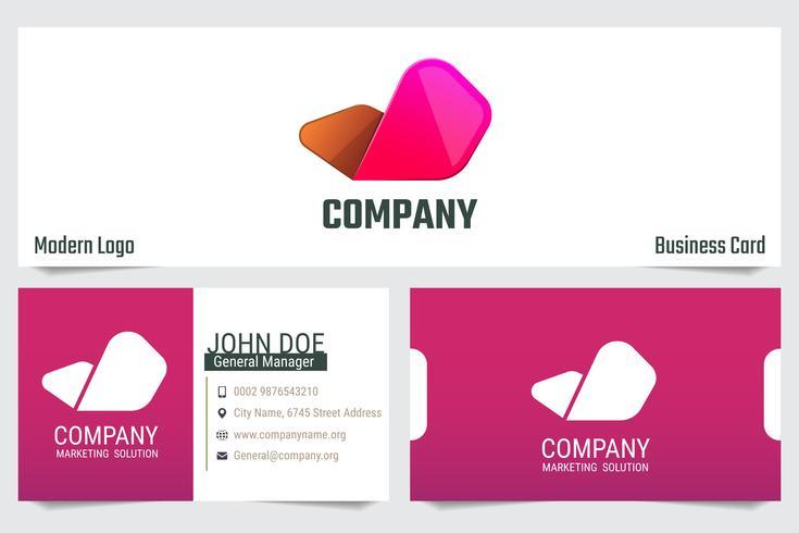 Modern business card Vector template design