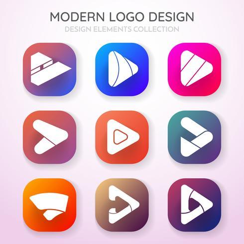 Modern Minimal Vector Logo for banner