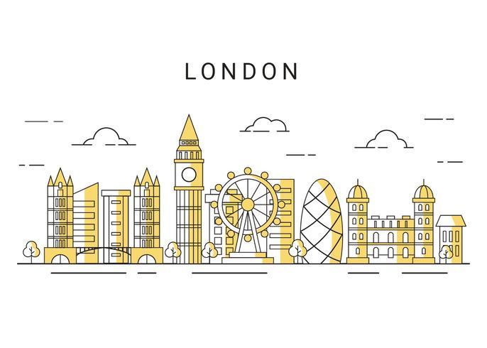 Vetor de skyline de cidade de Londres