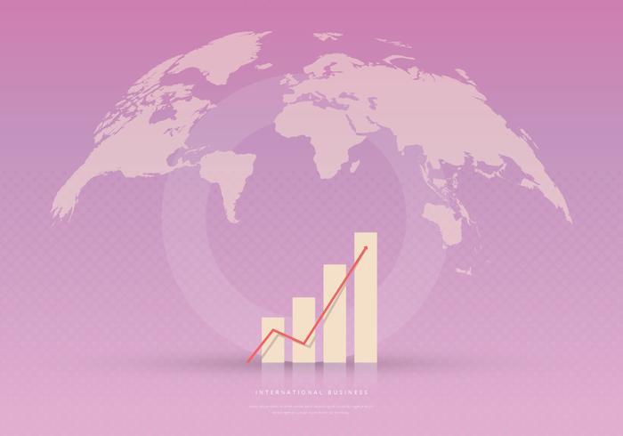 Internationale multinationale moderne Business Graphic Bar Seitenvorlage vektor