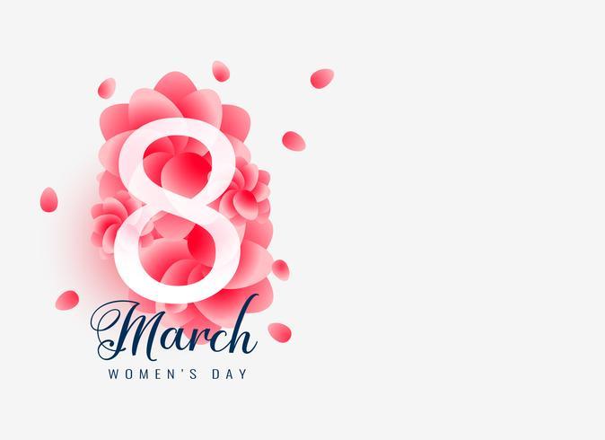 vacker march 8 glad kvinna dag kort design