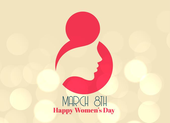 creative 8th march happy women's day design