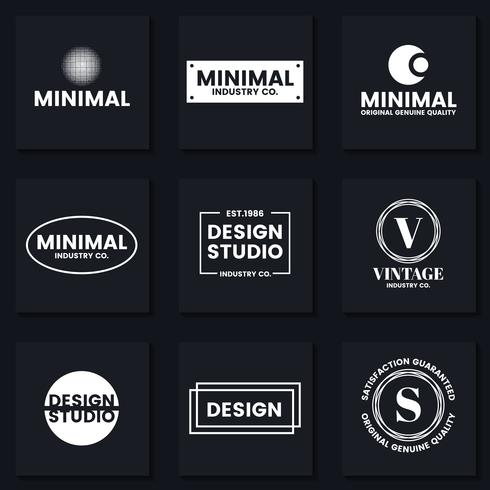 Minimal Vector Logo for banner