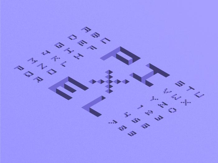 3D Pixel Isometric Alphabet - Download Free Vectors ...