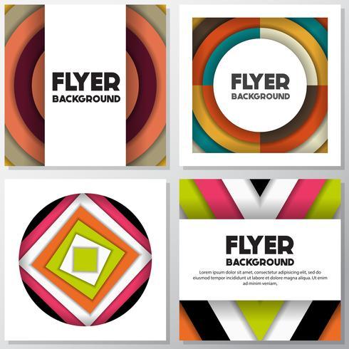 Fondo de moda fresca flyer estilo fondo plantilla de diseño vector