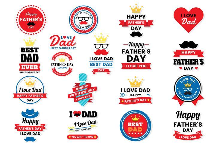 dia dos pais aniversário vetor logotipo para banner