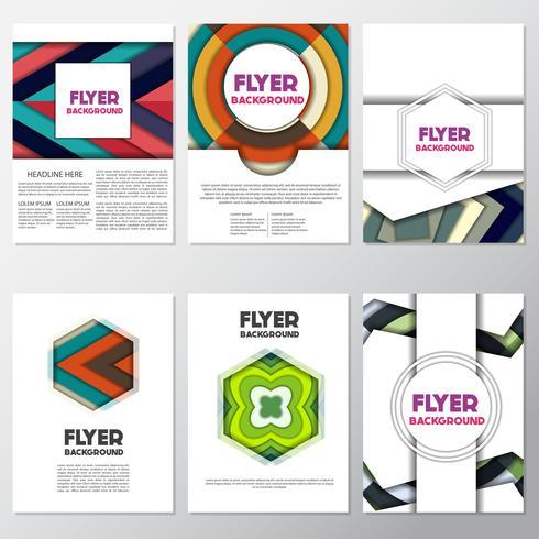 modèle de conception d'arrière-plan de flyer style fond frais