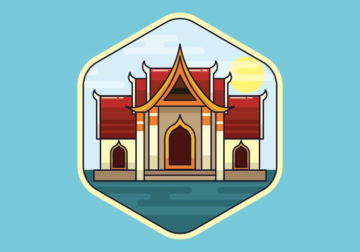 Illustration vectorielle de Bangkok