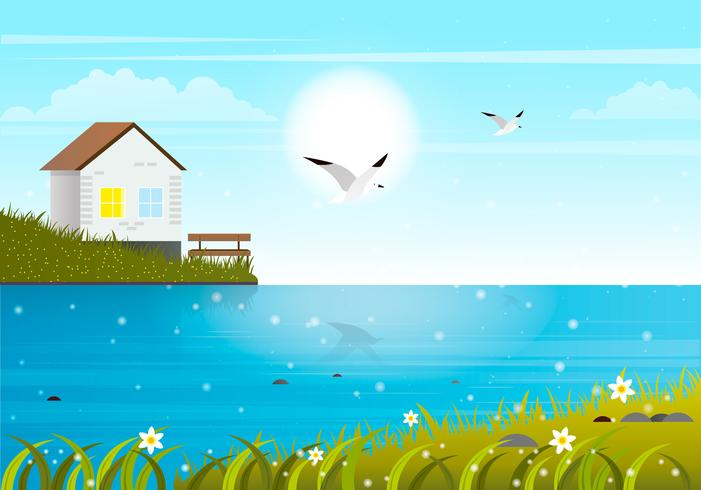 Vector Spring Landscape illustration