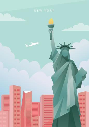 Illustration de la ville de New York vecteur