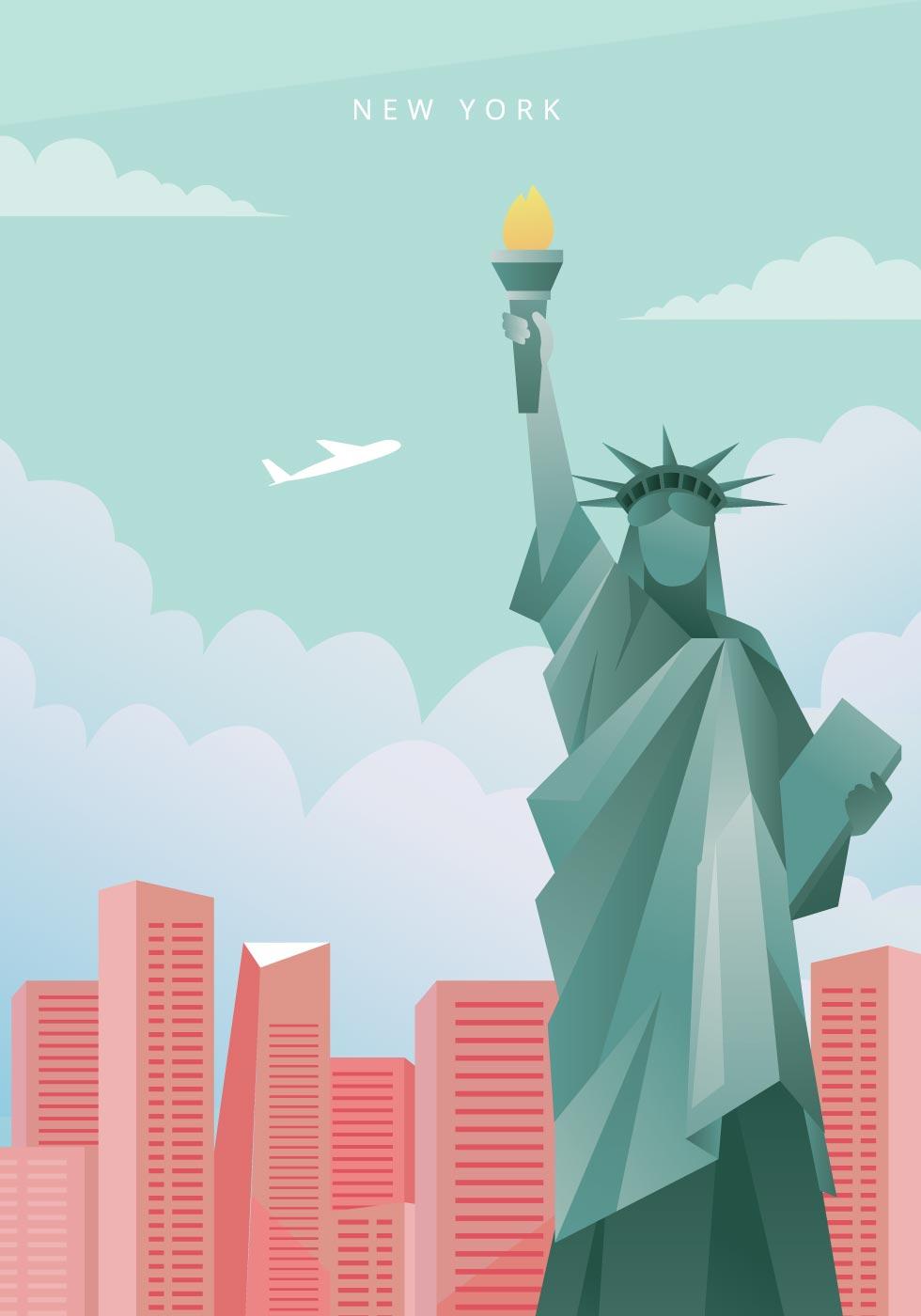 new york city illustration  download free vectors