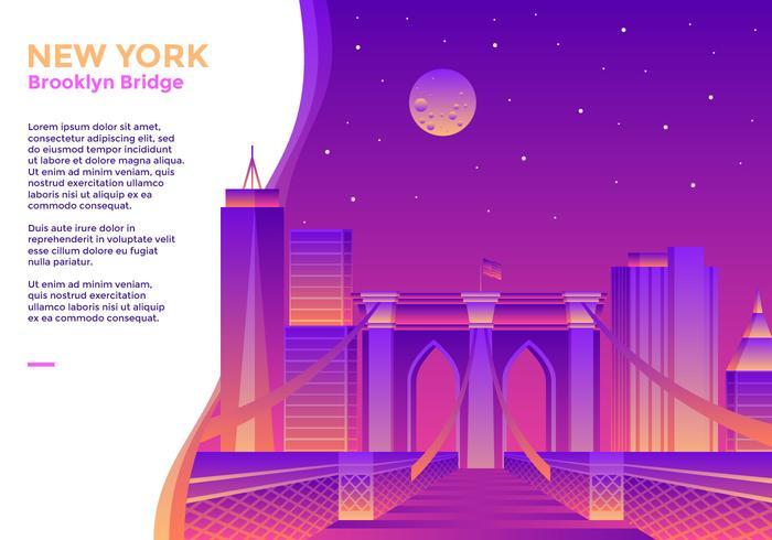 brooklyn bridge new york vektor