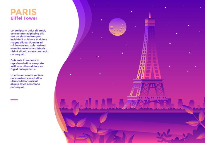 Torre Eiffel Paris Vector