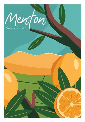 projeto de vetor festival menton frança limão