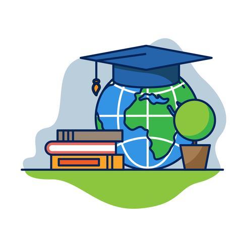 Wereldwijde onderwijsvector vector