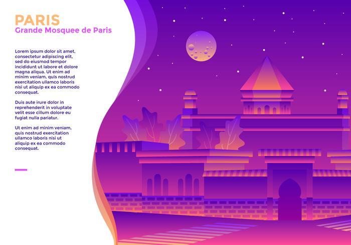 Grande Mosquee de Paris Vektor