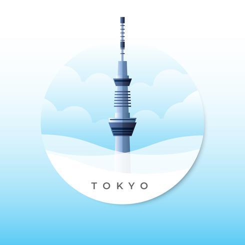 Tokyo Skytree Tower Vector Illustratie