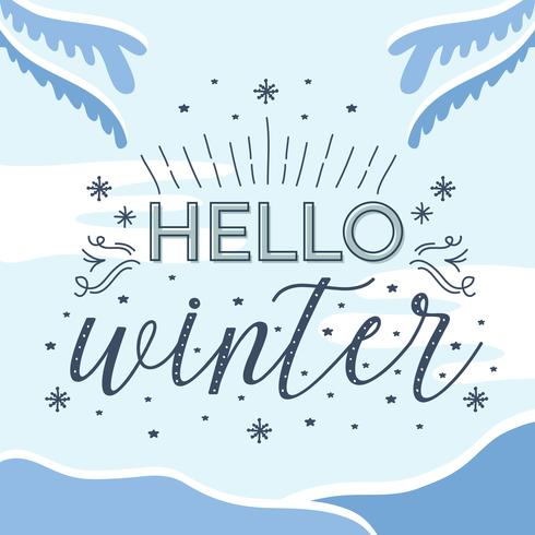 Hallo Winter Vector