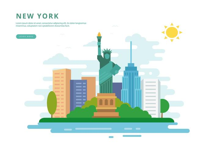 New York Abbildung vektor