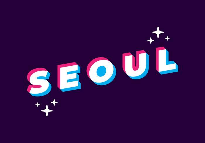 Typographie de Séoul